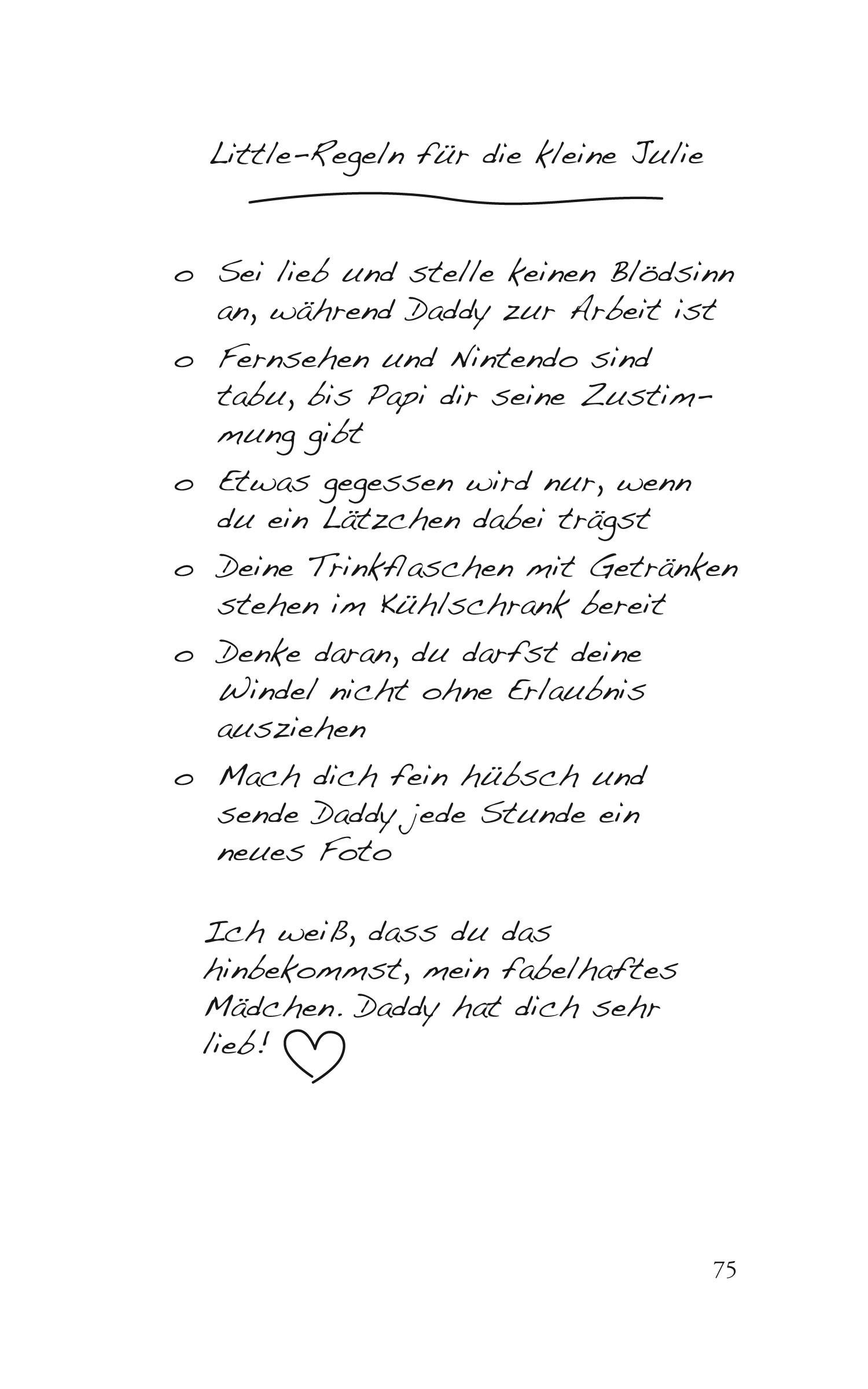"""Kleine Welt Taschenbuch Seite 75 """"Little-Regeln"""""""