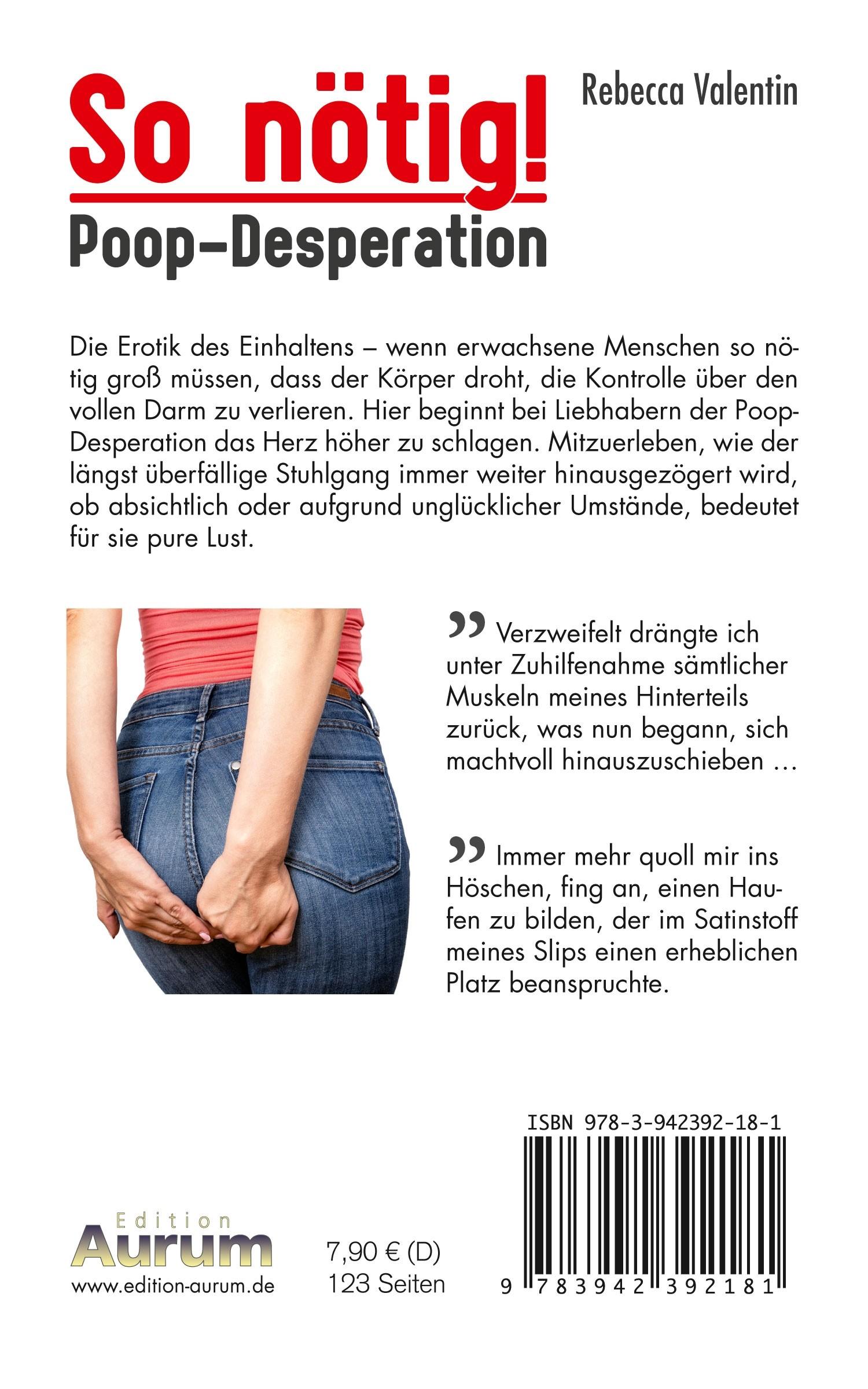 So nötig! – Poop-Desperation Buchrücken (Taschenbuch)