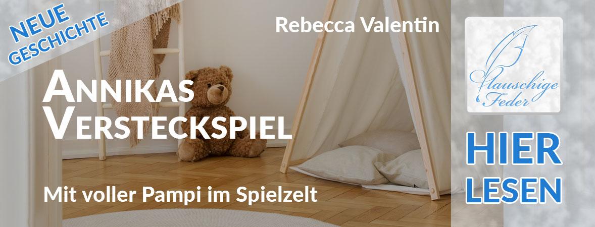 """Symbolbild zu """"Annikas Versteckspiel"""": Spielzelt mit Teddybär im Schlafzimmer."""